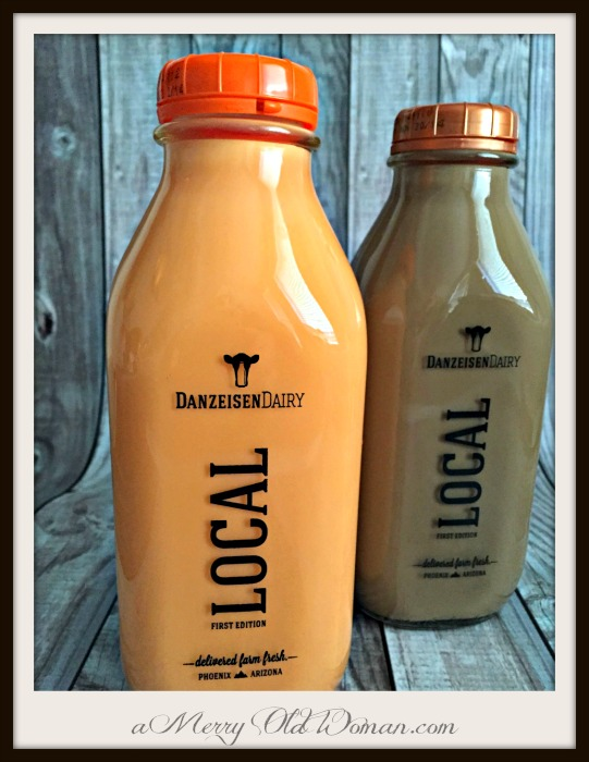 Orange and root beer flavored milk