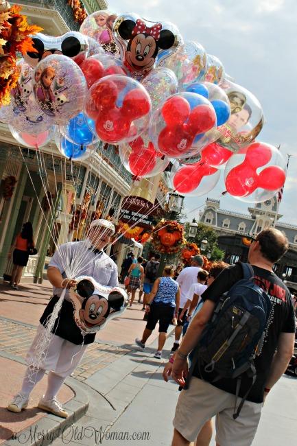 Balloon vendor at Walt Disney World Orlando FL
