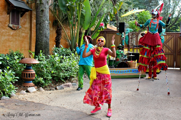 Street dancers in Disney World FL
