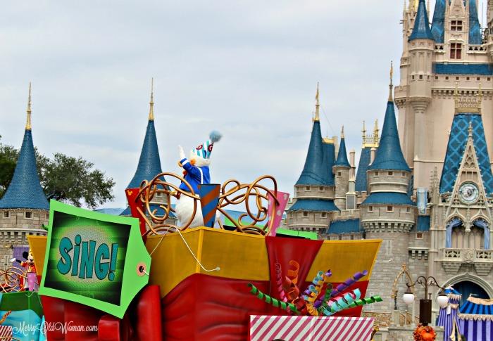 Street parade at Disney World Florida